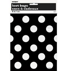 Polka Dot Loot Bags Black