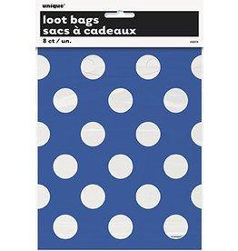 Polka Dot Loot Bags Blue