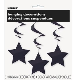 Hanging Star Decoration Black