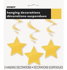 Hanging Star Decoration Yellow