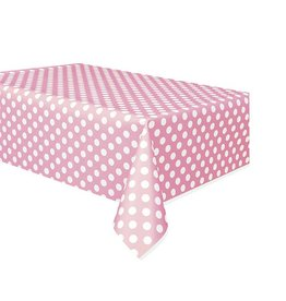 Polka Dot Table Cover Pink