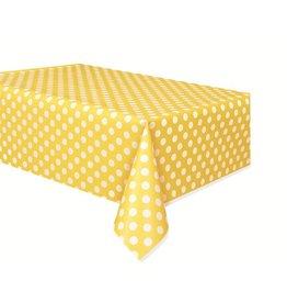 Polka Dot Table Cover Yellow
