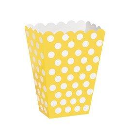 Yellow Polka Dot Treat Boxes