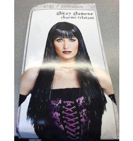 Glitzy Glamour Wig Black