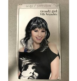 Trendy Girl Black and Silver Wig