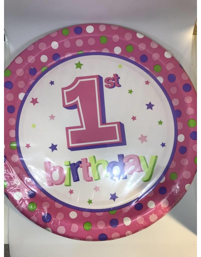 "7"" Plates 1st Pink Dots"