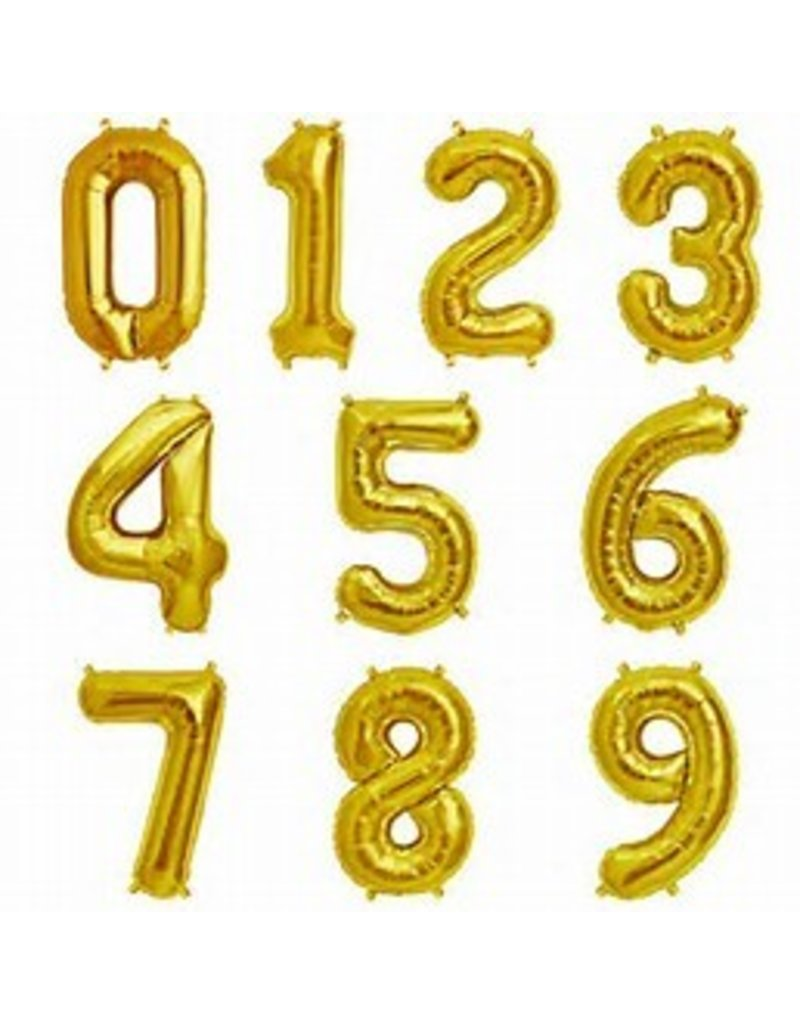 "16"" Gold Number Mylar"