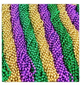 One Gross Throw Beads Purple-Green-Gold