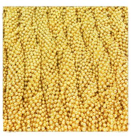 One Dozen Throw Beads Gold