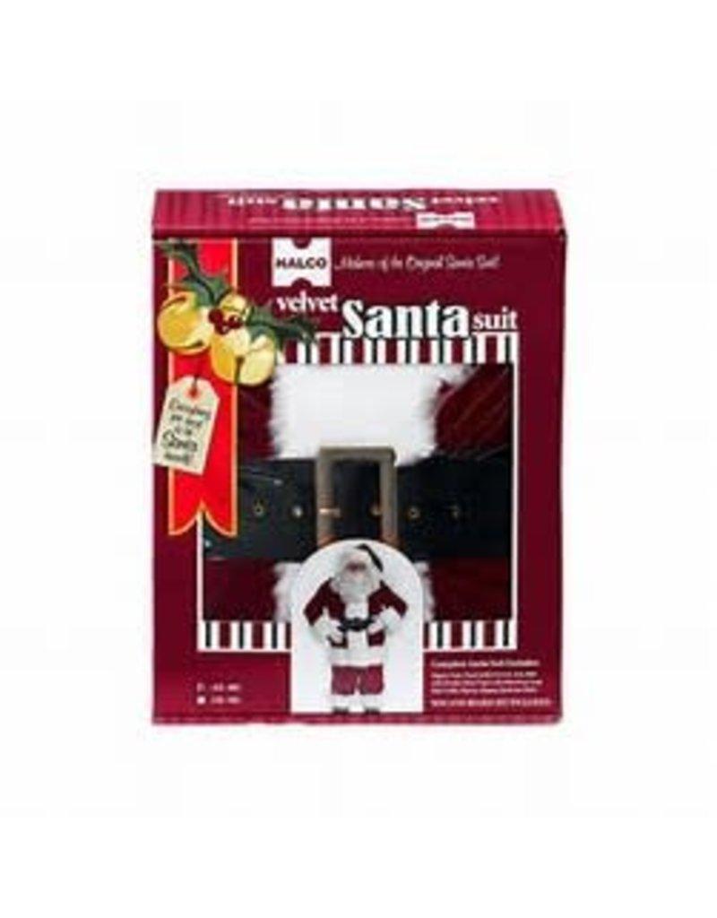 Santa Complete Set 10 piece Burgundy