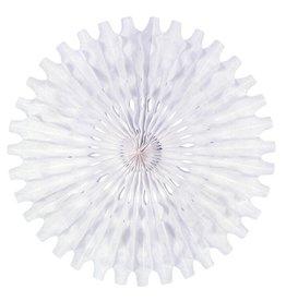 Fold Out Fan Decoration White