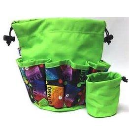 Round Bingo Bag With Pockets