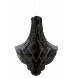 Honeycomb Chandelier Deco Black