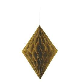Honeycomb Hang Decoration Diamond Gold