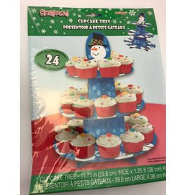 Cup Cake Tree Snowman