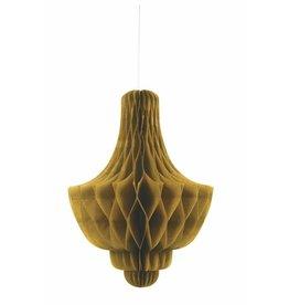 Honeycomb Chandelier Deco Gold