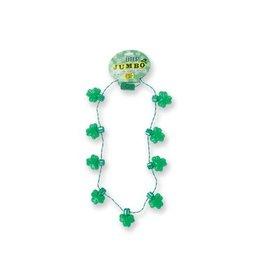St Pat Lite Up Shamrock Necklace