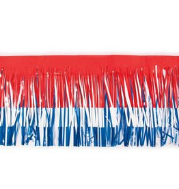 "Vinyl Fringe 15""x10' Red, White & Blue"