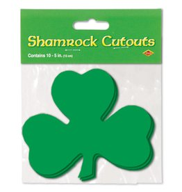 "Shamrock Cutouts-10 per package-5"""