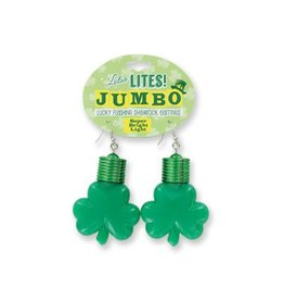 Lucky Flashing Jumbo Shamrock Earrings