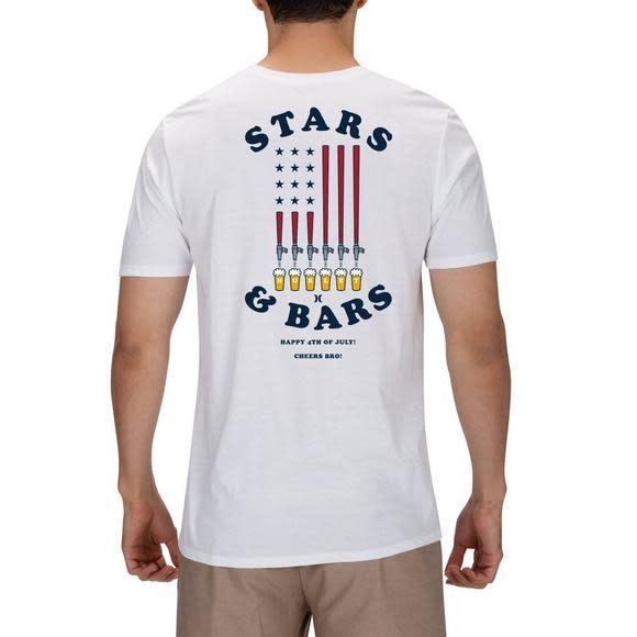 HURLEY STARS AND BARS TEE