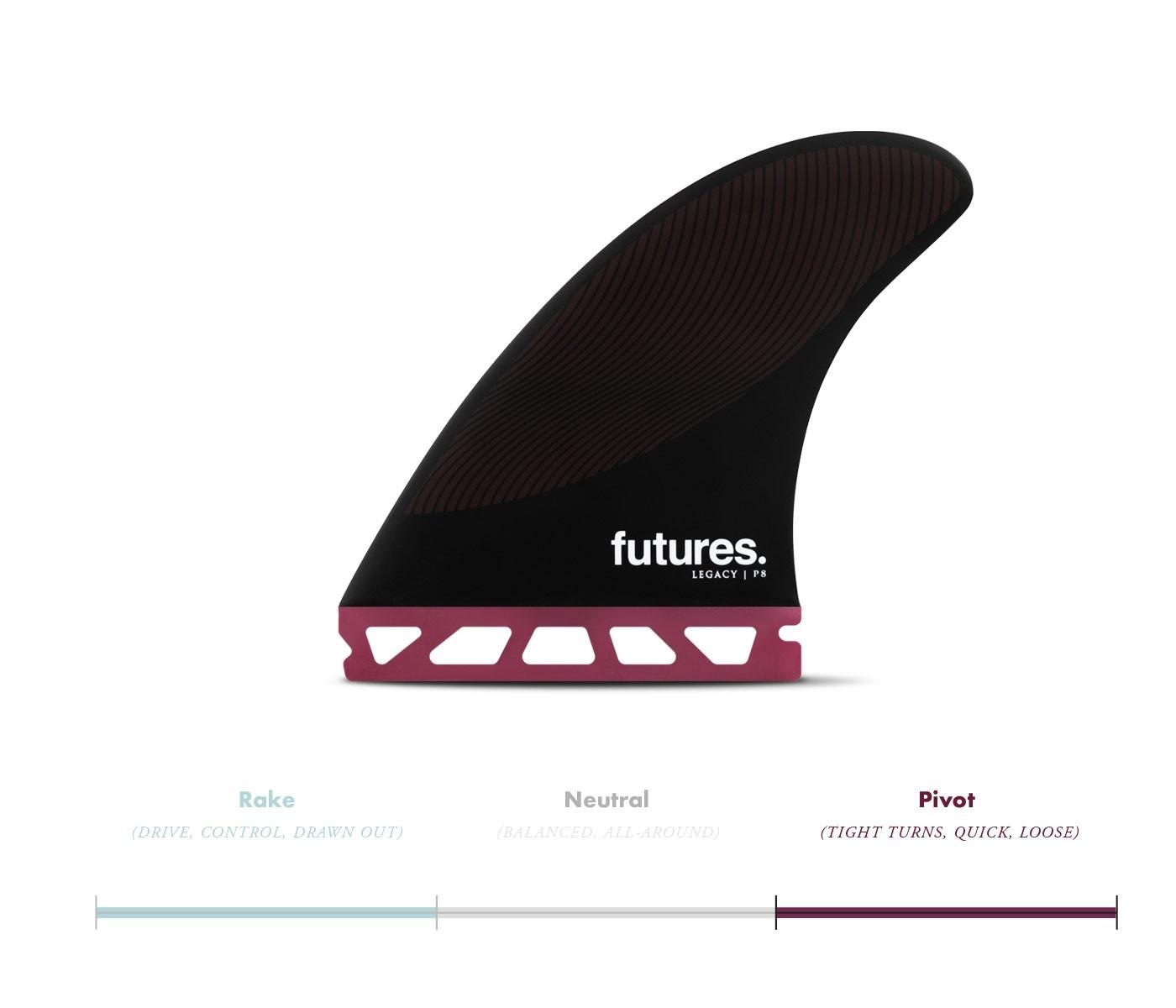 FUTURES P6 HC THRUSTER BURGUNDY/BLACK