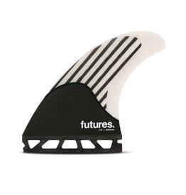 FUTURES FIREWIRE FW2 THRUSTER WHITE CARBON