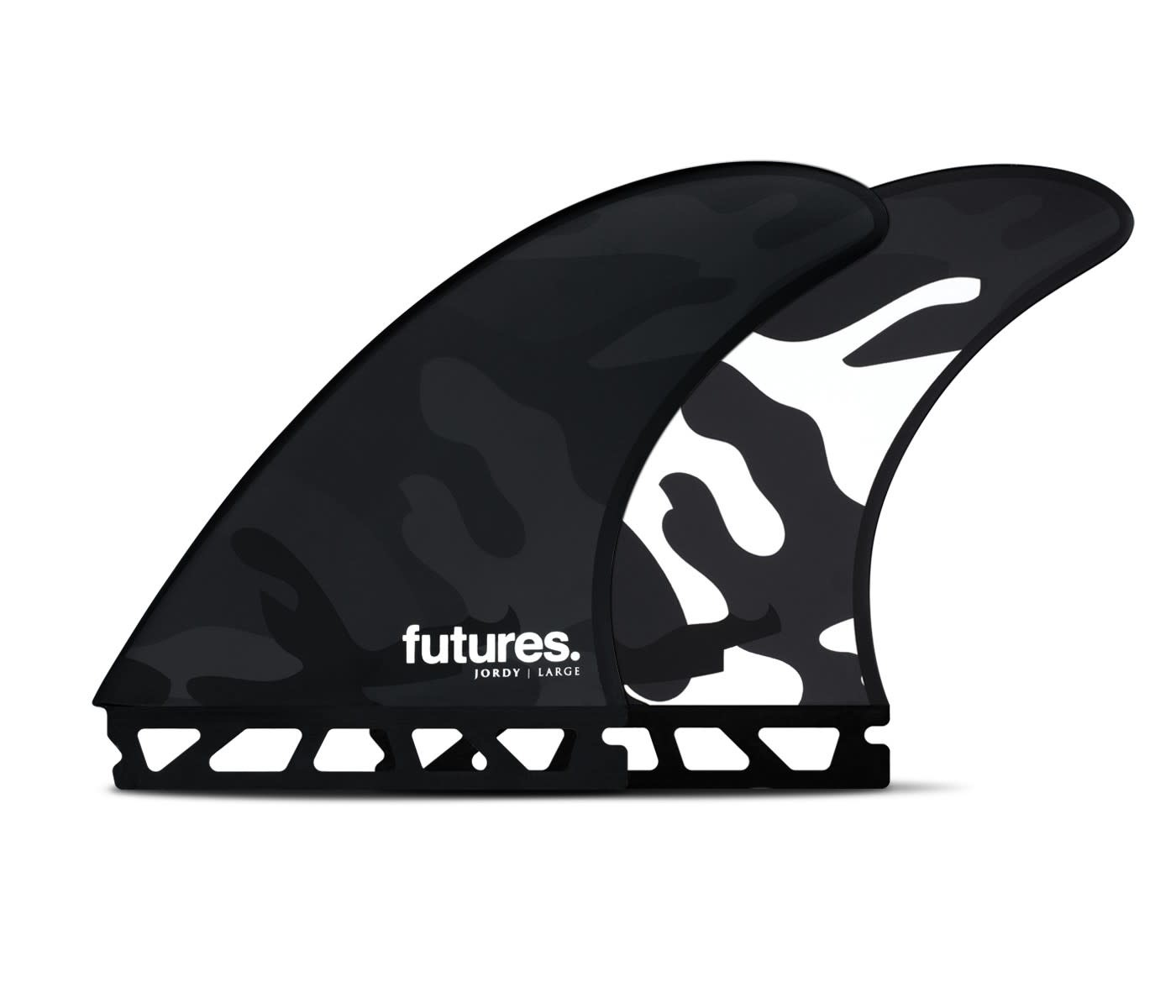 FUTURES JORDY LARGE HC THRUSTER BLACK/WHITE CAMO