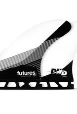 FUTURES DHD LARGE HC THRUSTER - WHITE/BLACK