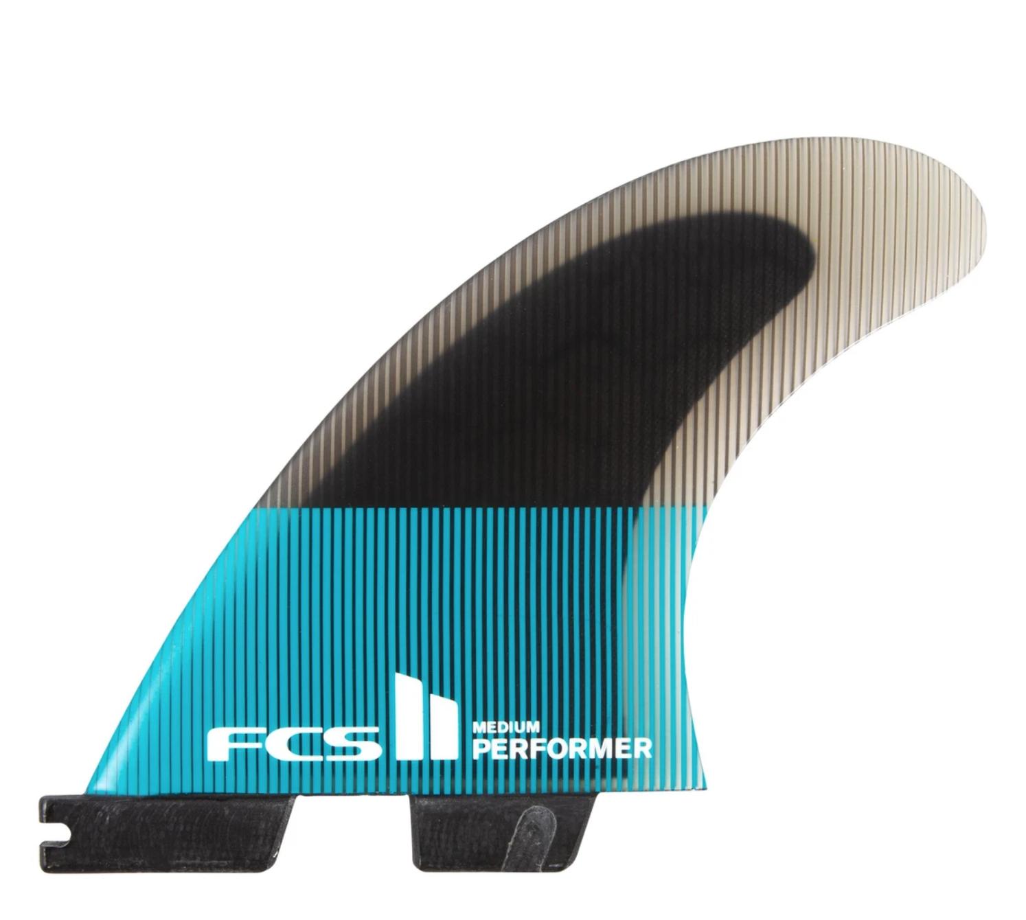 FCS FCS2 PERFORMER PC LARGE TEAL/BLACK TRI