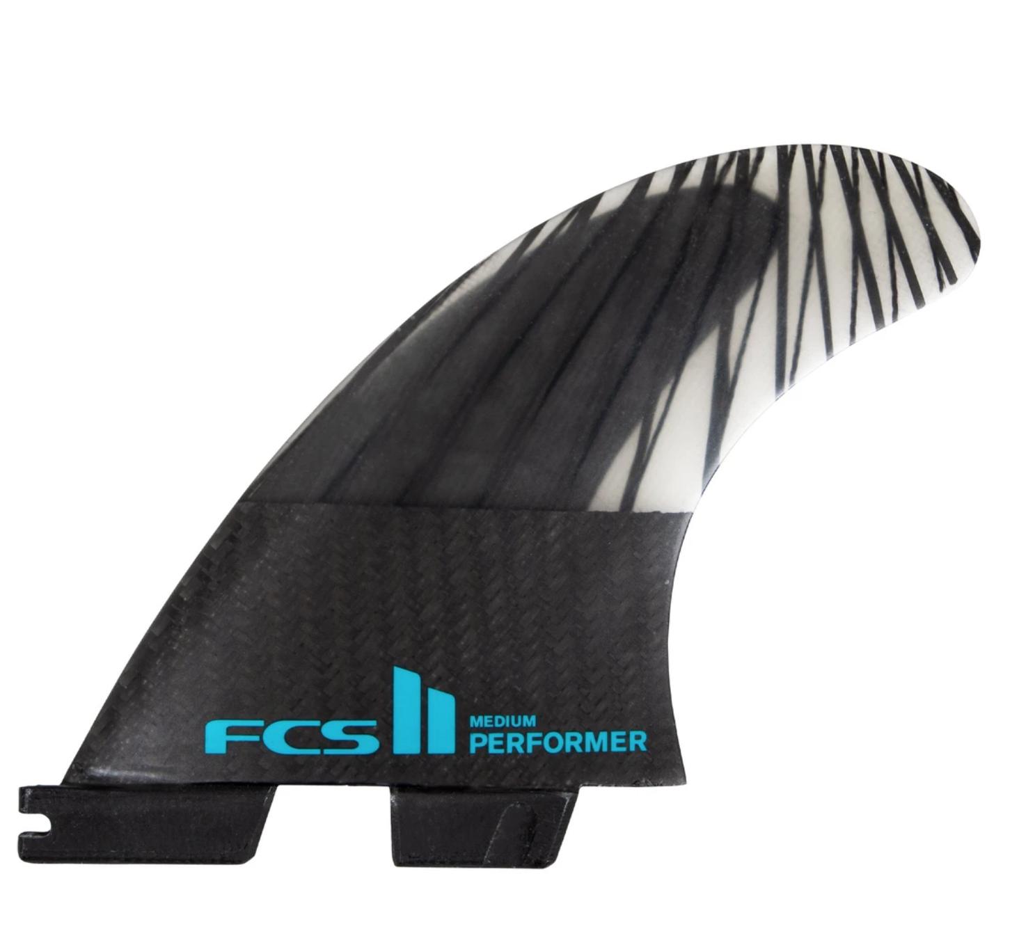 FCS FCS II PREFORMER PC CARBON TEAL S TRI SET