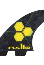 FCS FCS2 AM PC LARGE YELLOW TRI FIN