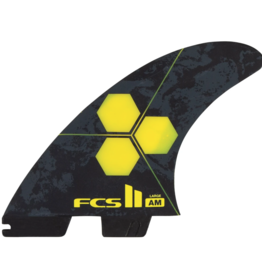 FCS FCS2 AM PC LARGE YELLOW TRI FIN