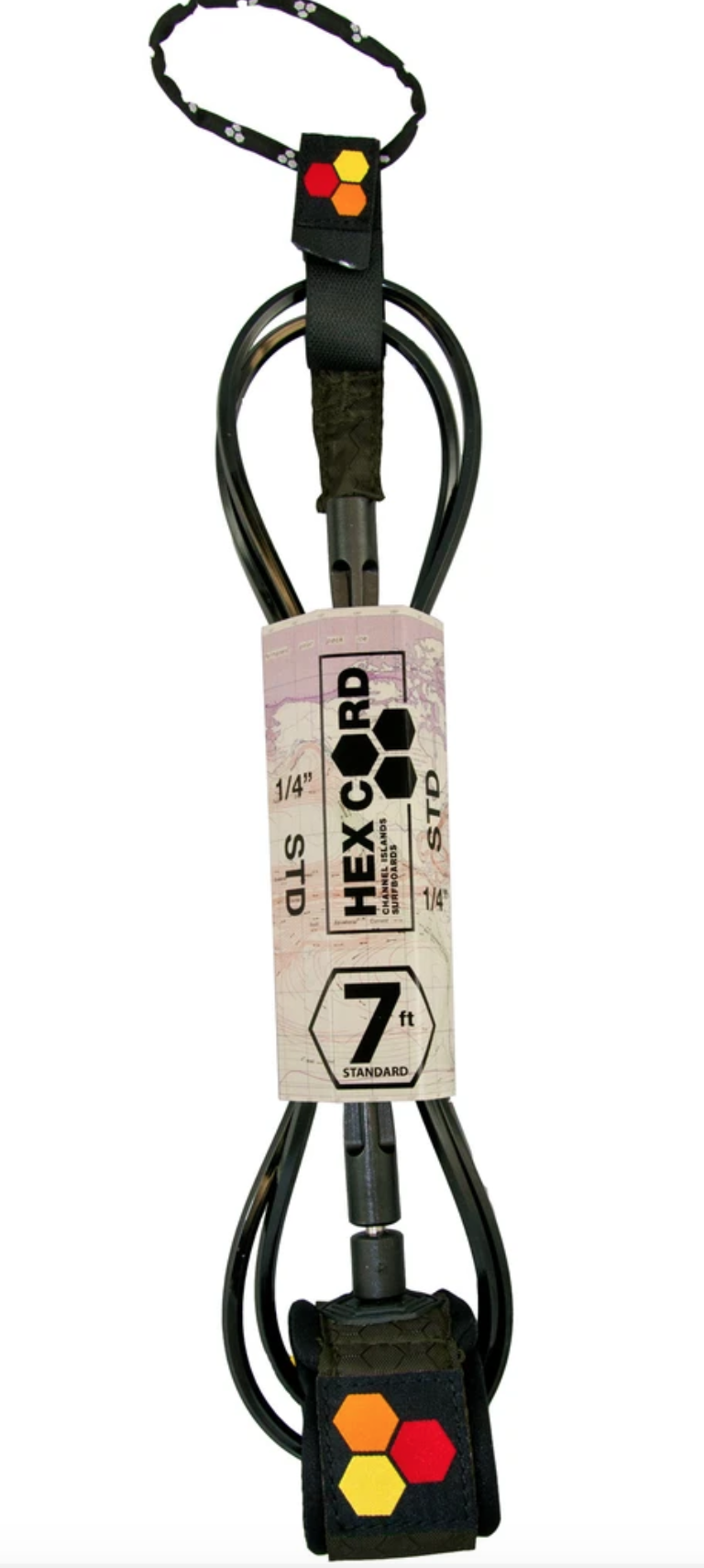 CHANNEL ISLANDS SURFBOARDS CI HEX CORD STD 7' BLK
