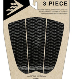 FIREWIRE SURFBOARDS FIREWIRE 3 PIECE ARCH TRACTION PAD BLACK/CHARCOAL