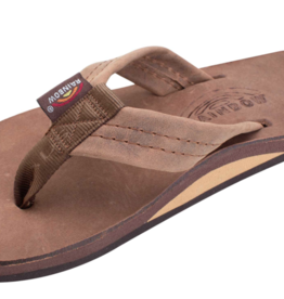 RAINBOW SANDALS LUXURY LEATHER NOGALES WOOD SINGLE LAYER MEN