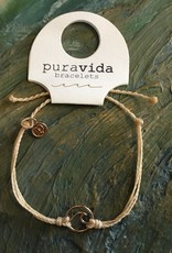 PURAVIDA ROSE GOLD WAVE BRACELETE