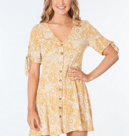 RIPCURL GOLDEN DAYS FLORAL DRESS