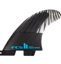 FCS FCS II PERFORMER PC CARBON TEAL LARGE TRI