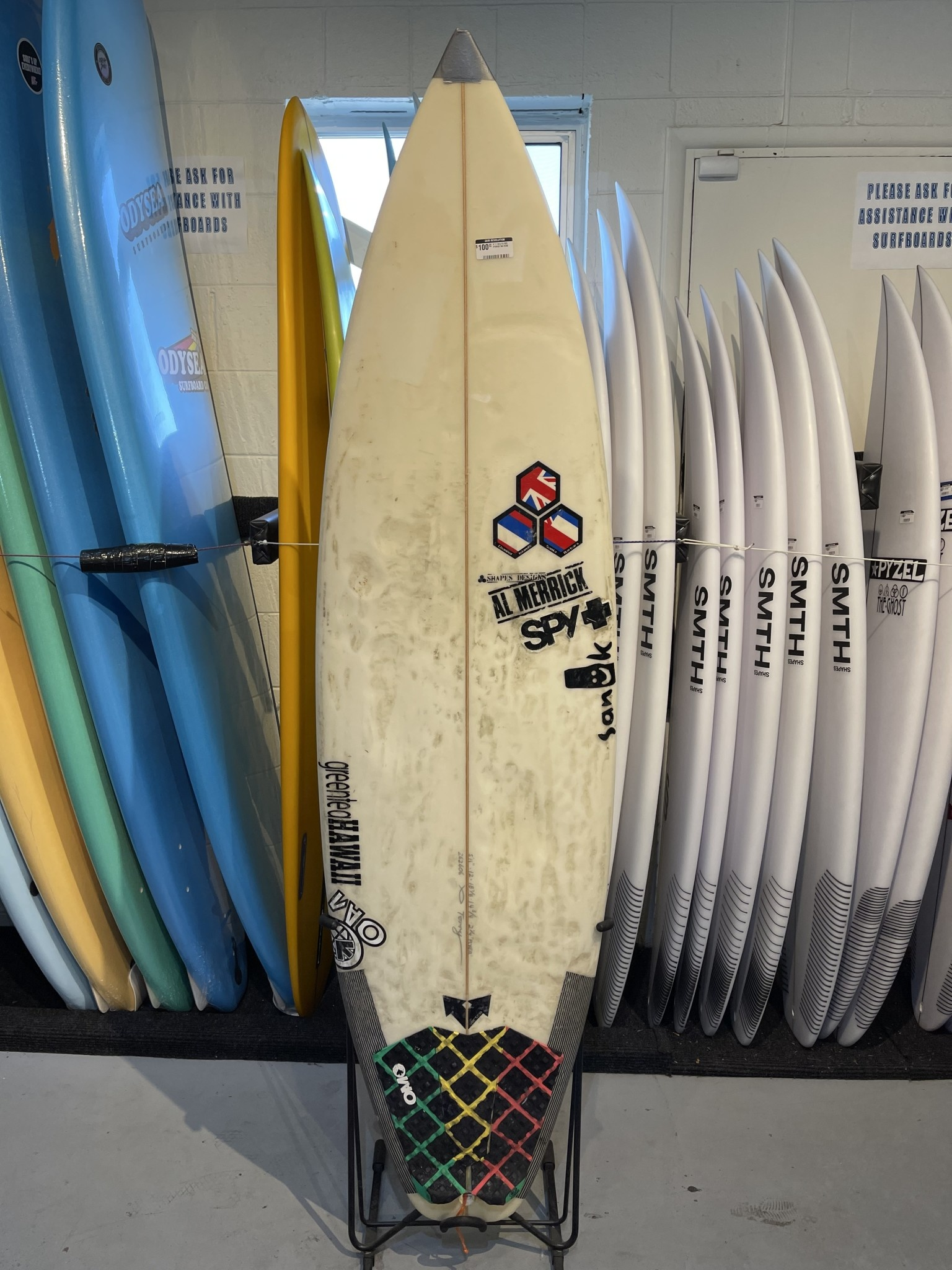 CHANNEL ISLANDS SURFBOARDS 5'11 O.G FLYER #1040A NO FINS