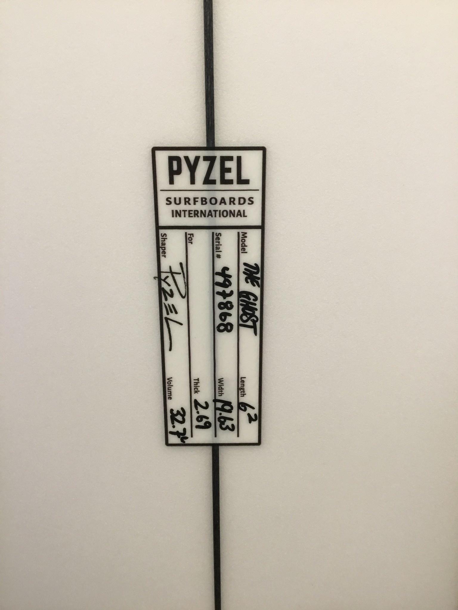PYZEL 6'2 GHOST FUT