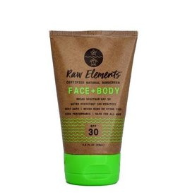 RAW ELEMENTS ECO FORMULA TUBE SPF30 FACE AND BODY 3OZ