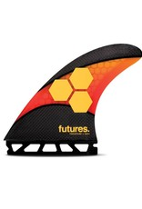 FUTURES AM2 TECHFLEX TRI ORANGE/RED