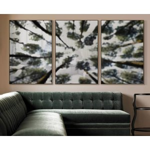 Print on Rag Paper 100% Cotton - Blurred Forest Triptych