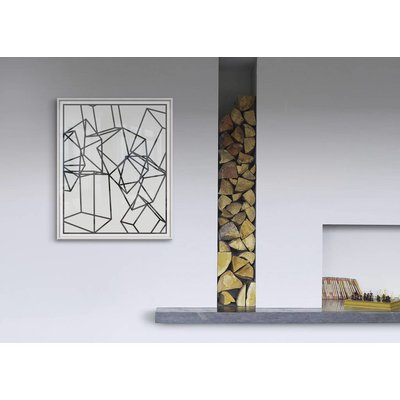 The Picturalist Framed Print on Rag Paper: Black Cubes on White 1