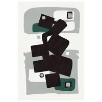 Framed Print on Rag Paper: Modernist Emerald Series #1
