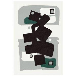 Framed Print on Rag Paper Modernist Emerald Series #1