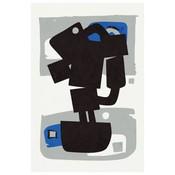 Framed Print on Rag Paper: MB Modernist Cobalt Series #2