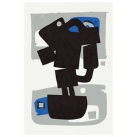 Framed Print on Rag Paper: Modernist Cobalt Series #2