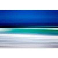 Framed Print on Rag Paper Turquoise Blur